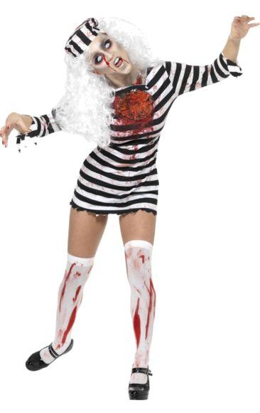 Lady Zombie Convict Costume