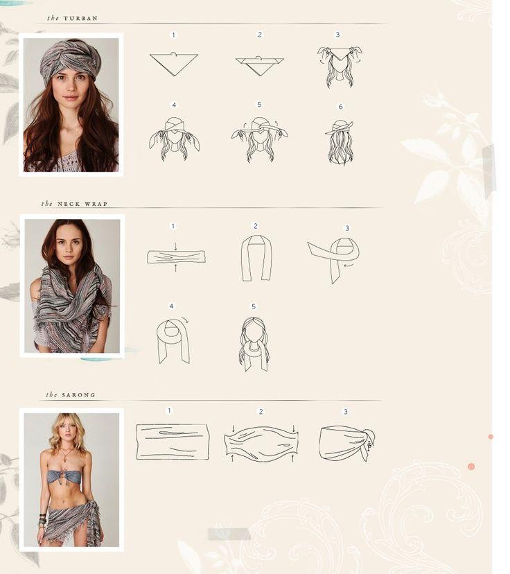 Les 118 meilleures images propos de mode boh me chic et romantique sur pinterest style - Comment porter un foulard ...