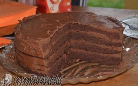 Emeletes csokoládékrémes torta recept fotóval