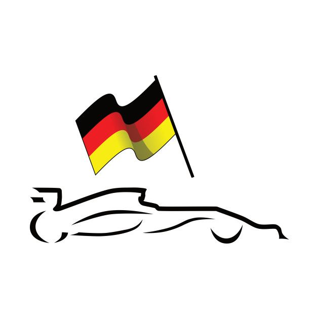Check Out This Awesome 'Race+Car+Line+Drawing+with+German