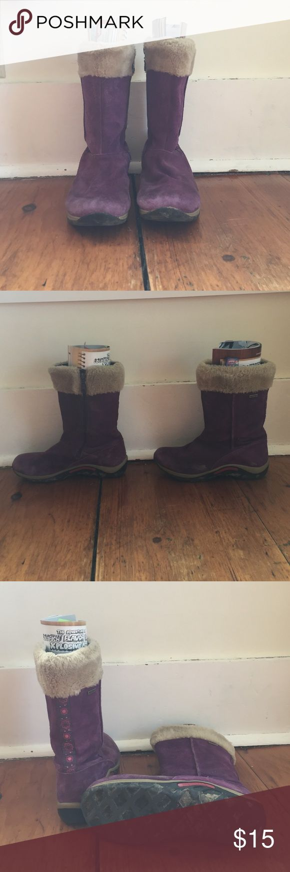 Merrell Kids Winter Boots Purple Merrell youth winter boots. Worn for one season, have some creases. Merrell Shoes Rain & Snow Boots