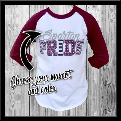 Gear up for the season and get your Pride-Raglan Tee. Available in sizes Youth XS - Adult 3X. Order now at tees2urdoor.com!