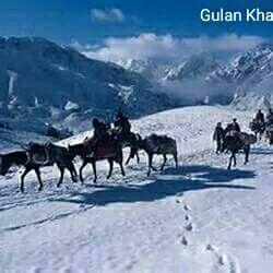 Awesome beauty Hindu Kush mountains winter beauty of Chitral valley Khyber Pakhtunkhwa Pakistan