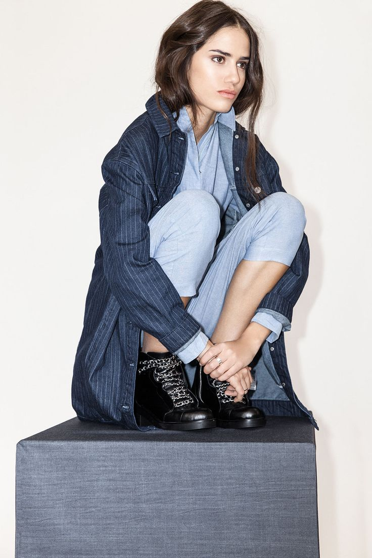 What To Wear With Your New Jeans #refinery29  http://www.refinery29.com/outfits-with-jeans#slide12  Your new jean jacket will add some structure to any baggier fits, but it's not as stuffy or serious as a black blazer can be. Here, with a mechanic's jumpsuit, the model cashed in on two major fall jean trends, too.