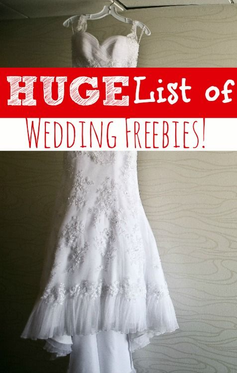 Getting married on a budget? Be sure to check out this list! My*HUGE* List of Wedding Freebies will help you big save money on your perfect day!