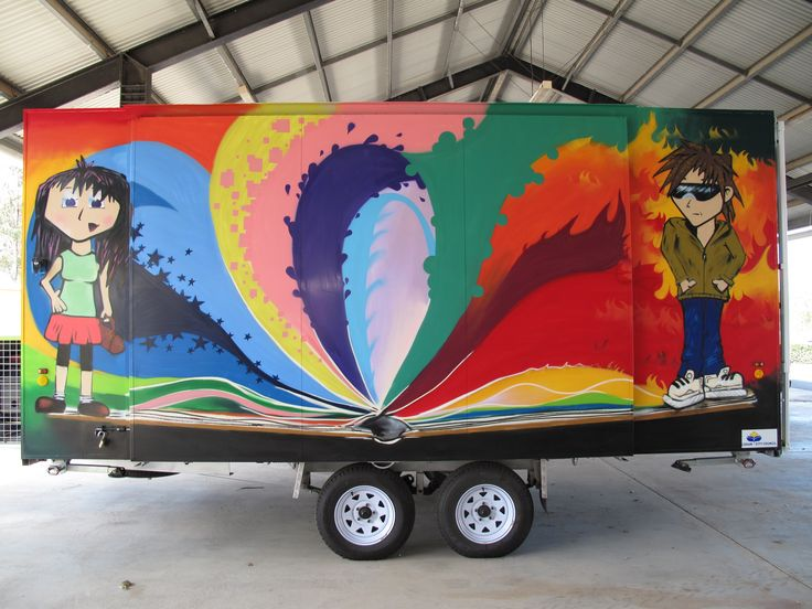 Not just for the private commissioner. #Aerosolart is a great way to brand your #trailer, #van, #car, #truck and more.