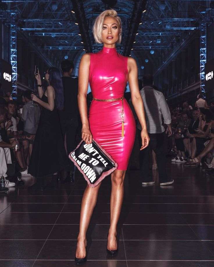 MICAH GIANNELI   'Don't tell me to calm down..' Kinky kitsch in @houseofcb dress & @dorianevanovereem bag at tonight's @oystermagazine @vamff show