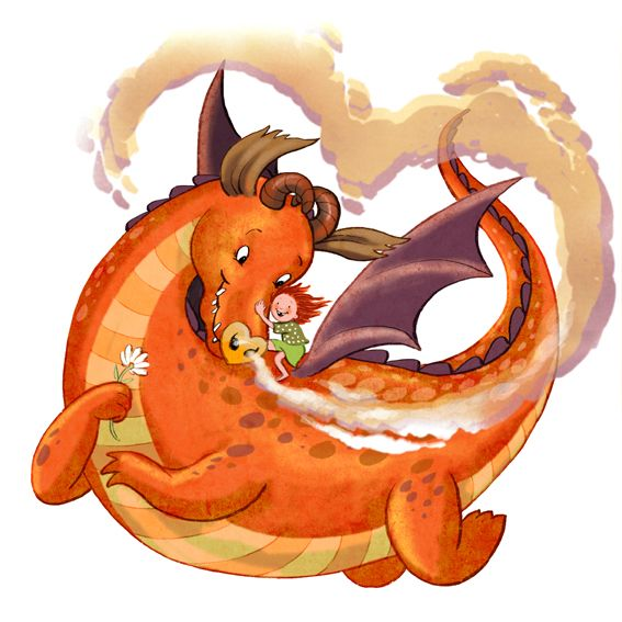 Heart dragon for a colour collective submission.