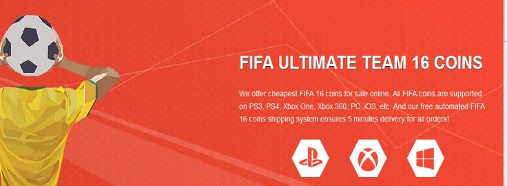 We offer cheapest FIFA 16 coins for sale online. All FIFA coins are supported on PS3, PS4, Xbox One, Xbox 360, PC, iOS, etc. And our free automated FIFA 16 coins shipping system ensures 5 minutes delivery for all orders!