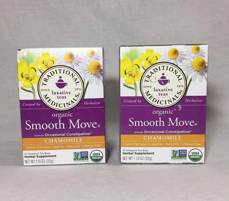2 PK Traditional Medicinals Tea Organic Smooth Move® 16 Bags/ea. Chamomile  | eBay