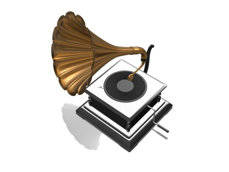 Vintage gramophone a 3D model created with VECTARY - the free online 3D modeling tool #3Dprinting #productdesign