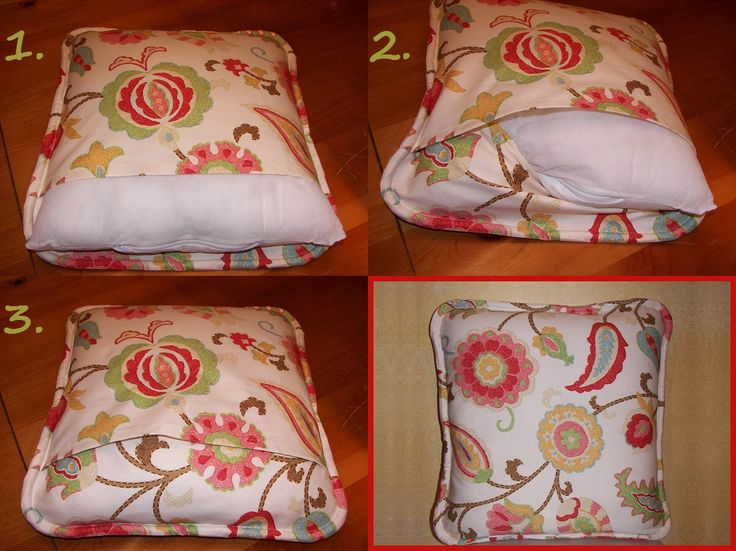 Howto Make a SelfWelted Envelope Pillow Cover Today's