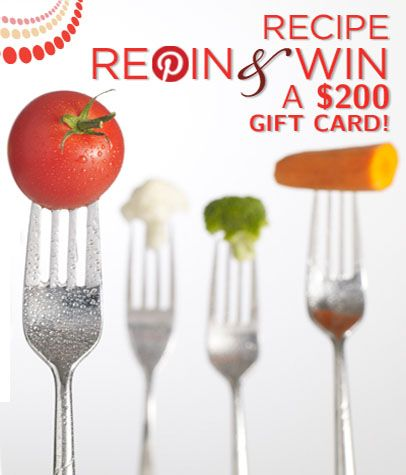 Repin this Image to Win a $ 200 gift card! Participating is easy: Follow Mamiverse on Pinterest and repin this image and any recipes you love from this Recipe Repin & Win Pinterest board by 11:59 pm EST, July 31. Good luck and happy repinning! #Mamiverse #Recipe http://www.mamiverse.com/mamiverse-recipe-repin-win-sweepstakes-15641/