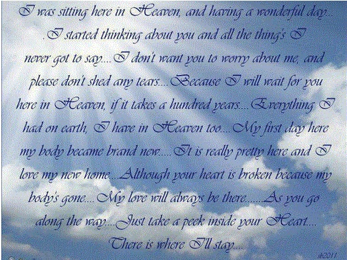 bereavement message