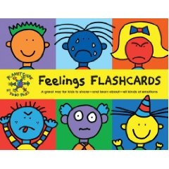 Feelings Flashcards...I heart Todd Parr's whimsical illustrations.