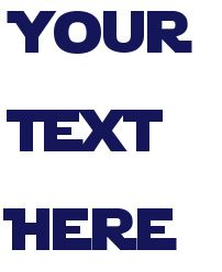 Star Wars font type in what you want and it will make it into the font!