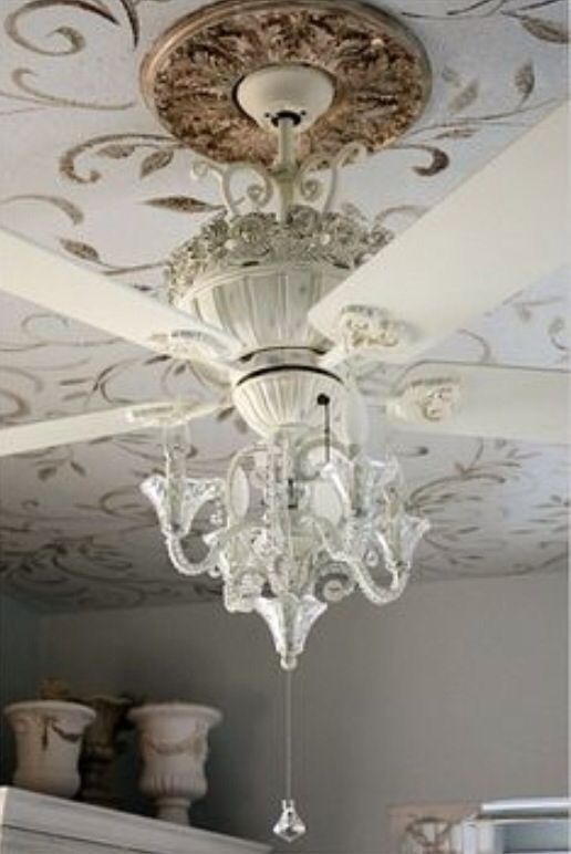 24 best images about ceiling fans on pinterest industrial drums and paint ceiling - Girl ceiling fans with chandelier ...