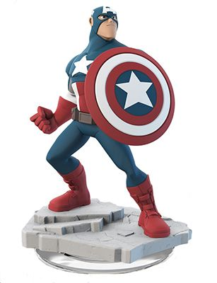 Disney Infinity 2.0 Figure: Captain America (Wave 1, The Avengers Play Set, Sold Separately)
