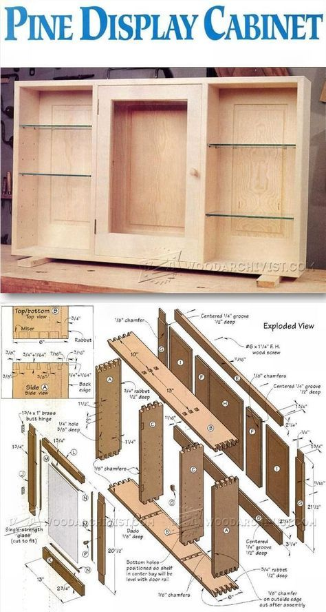 wall display cabinet plans furniture plans and projects holz arbeiten pinterest. Black Bedroom Furniture Sets. Home Design Ideas