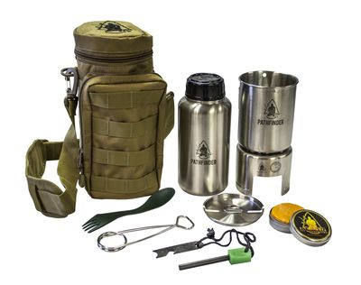 The Stainless Steel Bottle Cooking Kit makes a great addition to your survival…