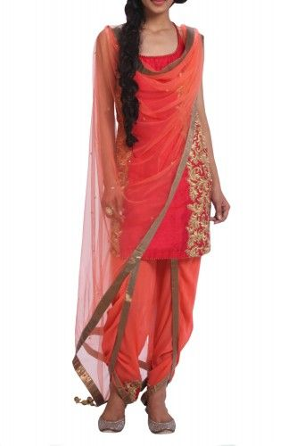 latest indian designer wear -dhoti pant suit . Get this in your favourite color made to your measurement on www.faaya.in