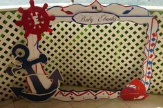 Nautical Baby Shower Photo Frame Photo Booth