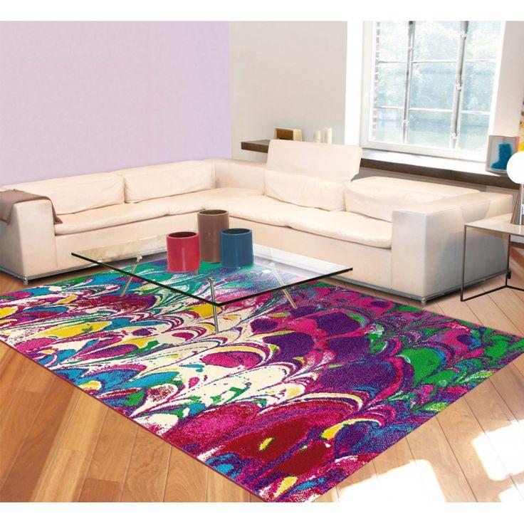 tapis moderne violet dintrieur rectangle marble arte espina httpwww - Tapis Moderne Violet