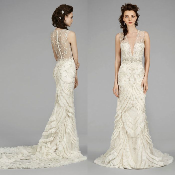 Lazaro Wedding Dresses 2014 Fall Collection - MODwedding