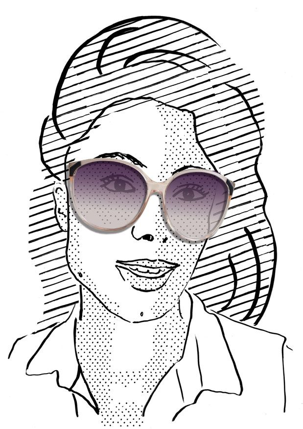 illustration by Julia Kaiser. Do you like my new glasses? #Faces #portrait #drawing #illustration #fashion #eyewear #glasses #shades #frames #vintage #shadow #blackandwhite #fashionillustration #studiojuliakaiser #eyewearvintage