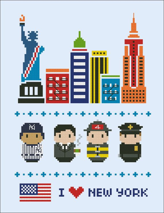 New York icons Mini people around the world PDF von cloudsfactory