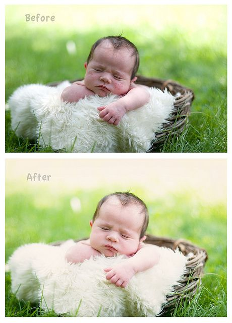 sooc and edited, via Flickr. before and after photography newborn editing photoshop skin www.marybethmillerphotography.com