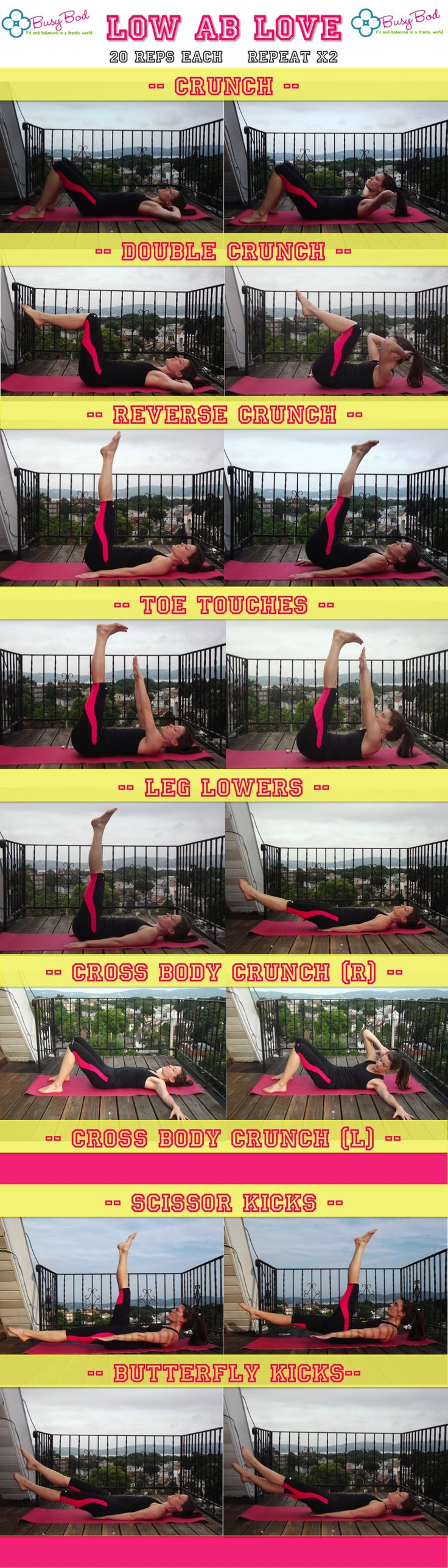 10 min workout for your lower abs! Part of the July Abs Challenge :) @cyndiagreen