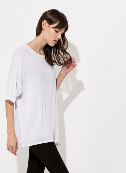 Women's Oversized Scoop Neck Tee | Lowry Mid Sleeve | Women | Kit and Ace