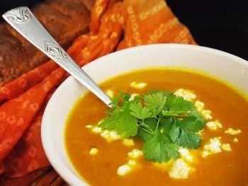 Krem dyniowo warzywny z wędzonym twarogiem gotowany wg 5 przemian   http://blog.tmch.pl/krem-dyniowo-warzywny-z-wedzonym-twarogiem,5