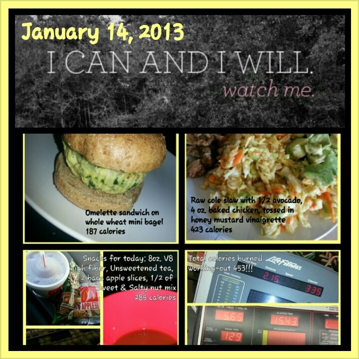 Use the Photo grid app to take pictures of meals, snacks, and workouts and figure out the calories on My Fitness Pal to add to your pictures and create an accountability collage to post on Facebook.