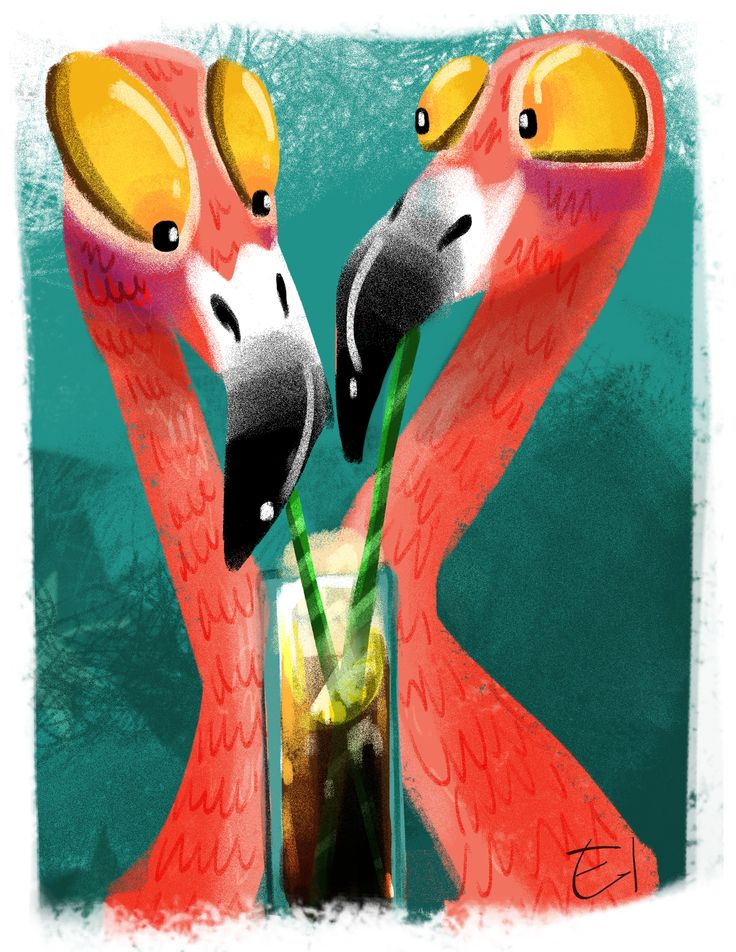 Flamingos sketch
