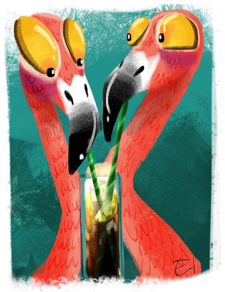 Flamingos sketch