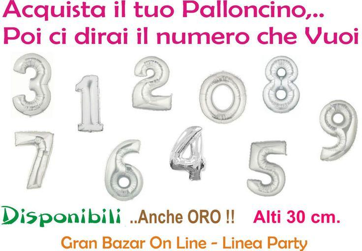 PALLONCINO NUMERO Mylar Foil da 30 cm ARGENTO Componi il tuo numero PARTY FESTA | eBay