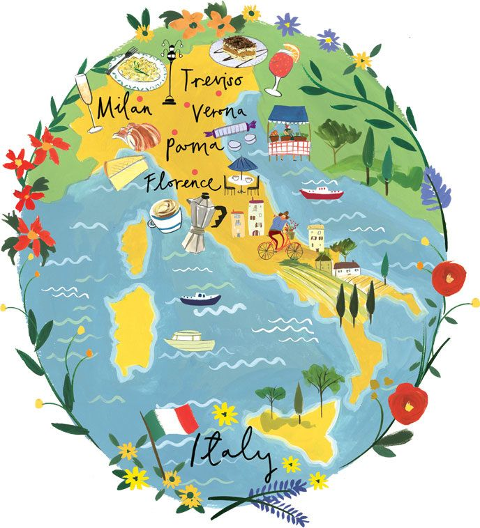 Maps & Travel - Clair Rossiter illustration