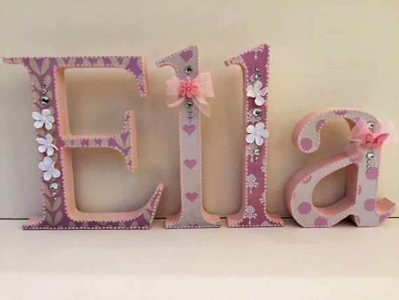 Best Baby Girl Wooden Letters Images On   Wood