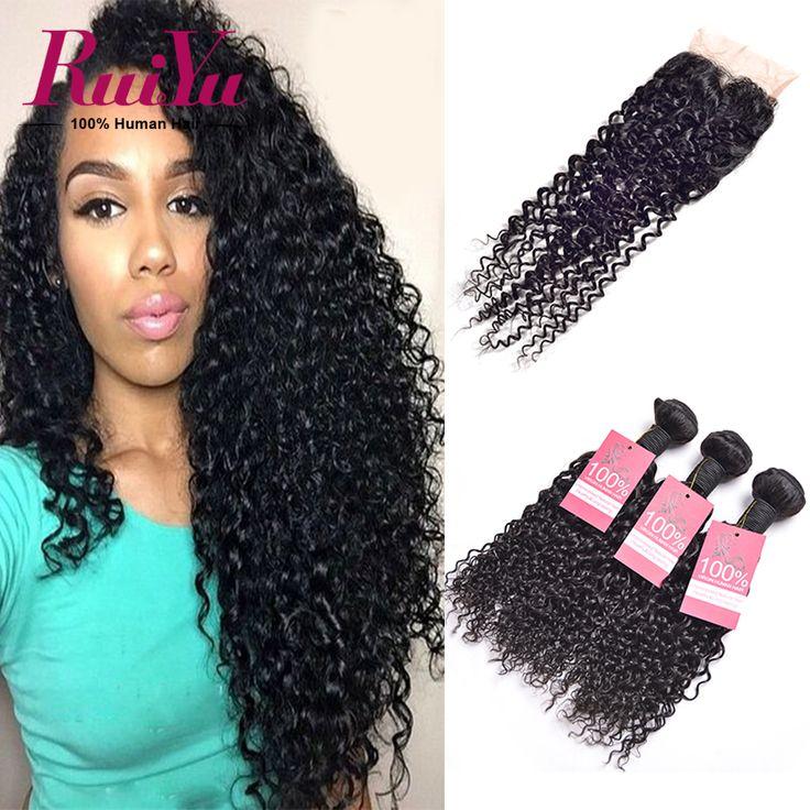Peruvian Virgin Hair Water Wave With Closure Peruvian Curly Hair 3 Bundles With Closure Water Wave Virgin Hair With Lace Closure