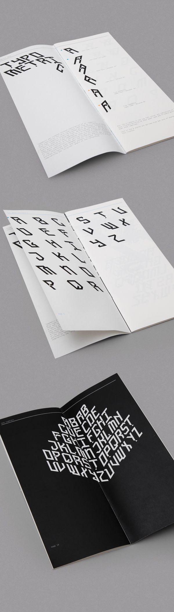 Typometric, isometric typeface design on Behance