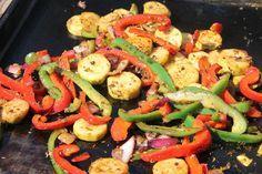 Légumes marinés à la plancha
