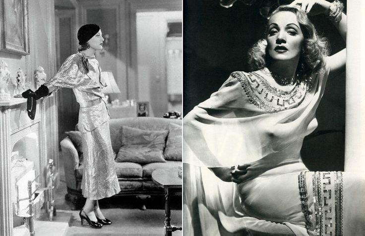 Марлен Дитрих и Джоан Кроуфорд в платьях от Адриана