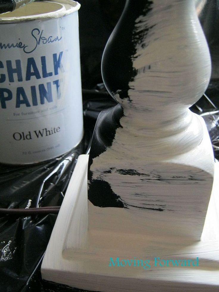 Annie Sloan chalk paint lamp makeover