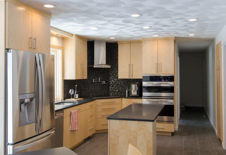 Birch Cabinet Kitchens Corner Cook Top Stainless Steel