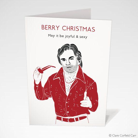 Matt Berry Christmas Card, available on Etsy. Funny Christmas Card