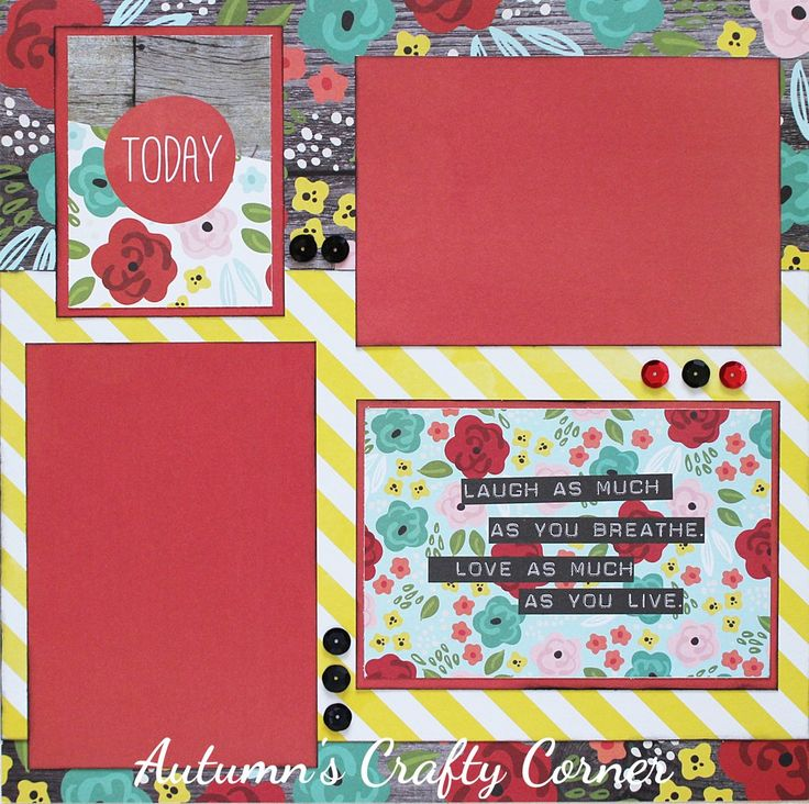 Today - Premade Scrapbook Page 12x12 Layout