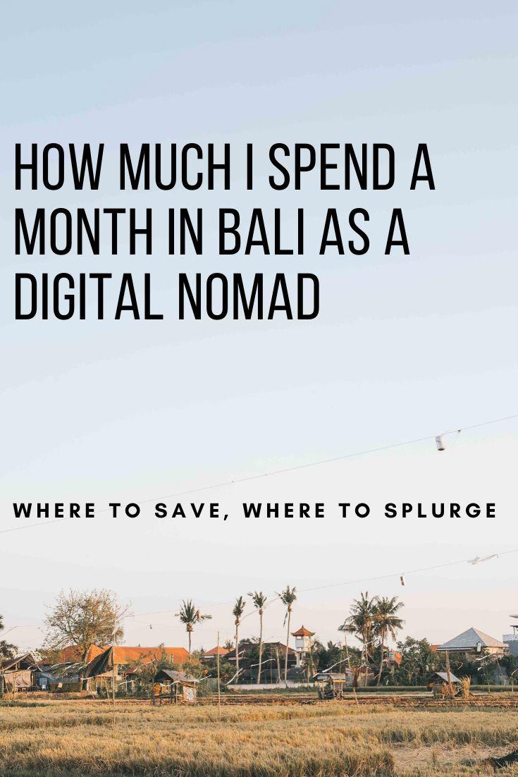 Cost Of Bali As A Digital Nomad Digital Nomad Bali Digital