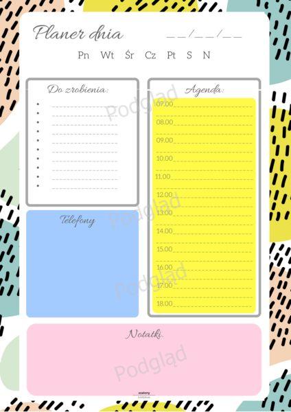 Planer dziennych obowiązków - Natural 1 - Szalony-Papiernik - Organizery na…